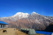 <h5>View from High Camp</h5><p>It is at 7am, the view is amazing!</p>