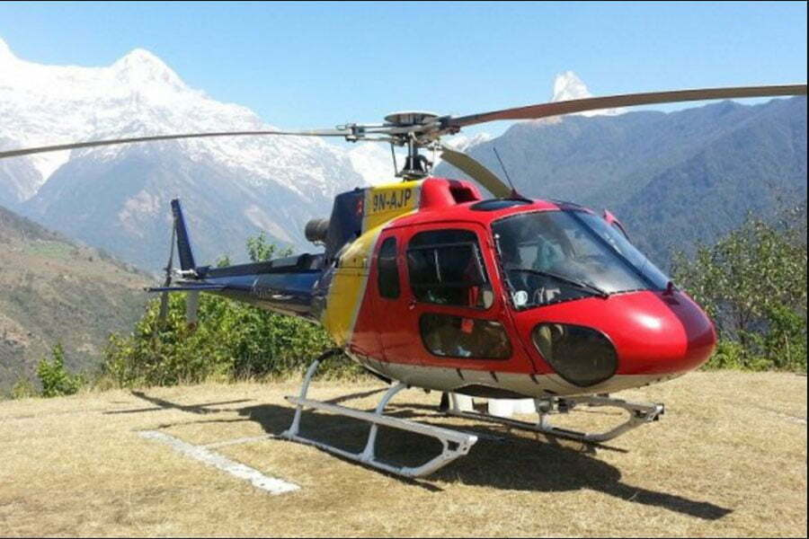 Heli at ghandruk