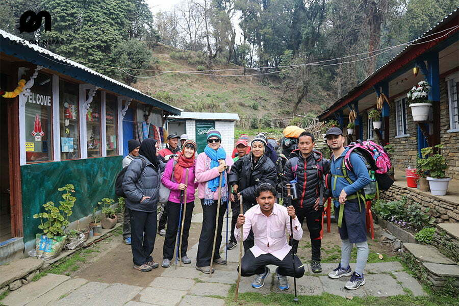 Mardi Himal Trek - Group Photo at Forest Camp