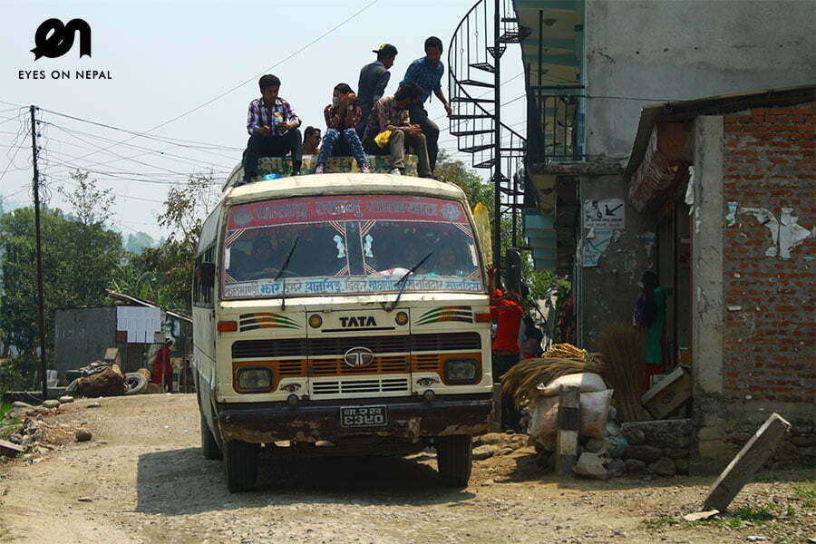 Nagarkot Trek - local bus ride