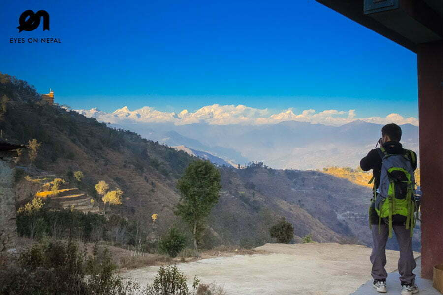Nagarkot Trek - taking photograph