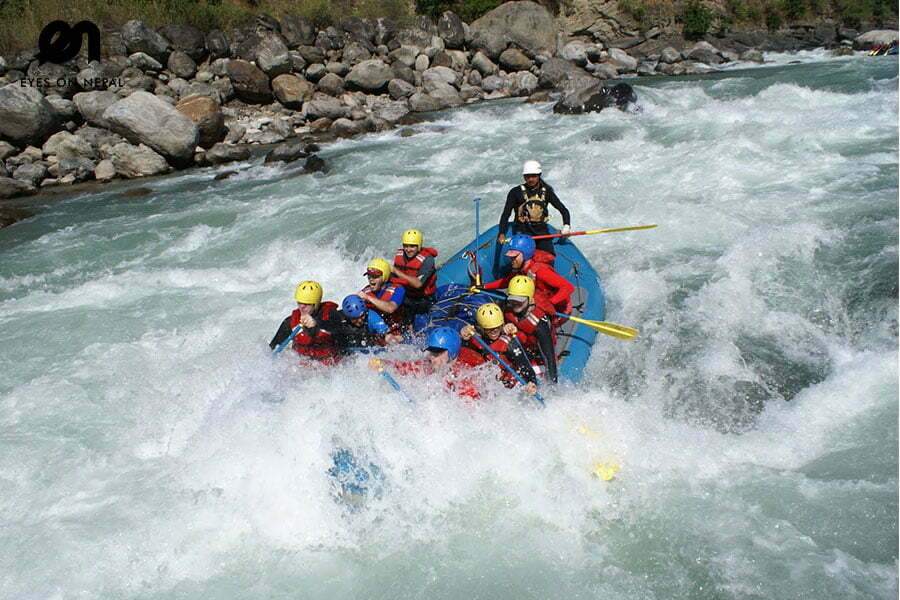 Rafting in Trishuli River