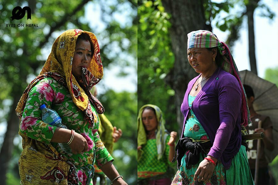 Faces of Nepalese in Chitwan National Park