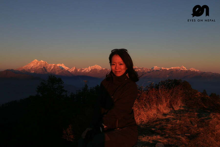 On top of the mountain at 3800m - Sunset at Kalinchowk