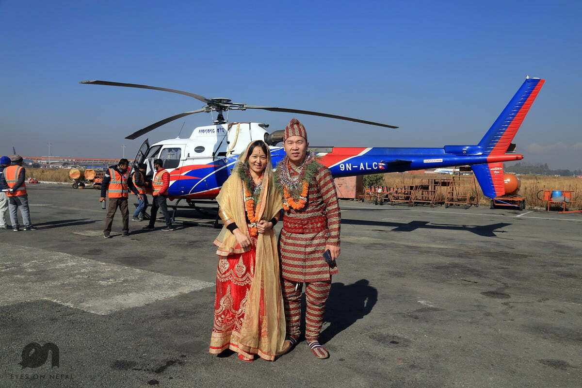 Wong Marriage Proposal during Langtang Heli Tour