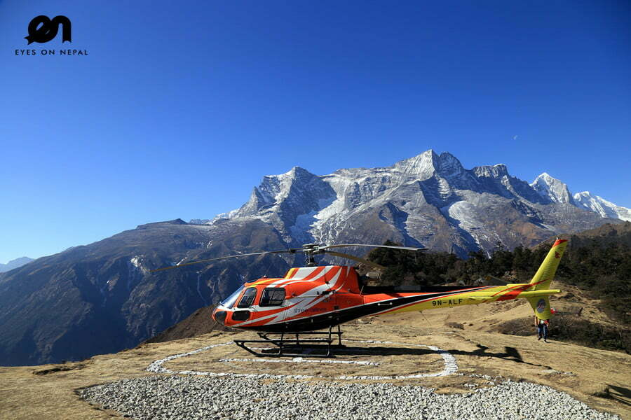 Helipad at Everest View Hotel
