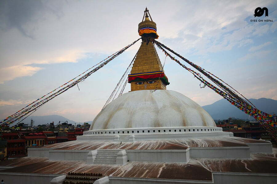 Boudanath Stupa in the evening