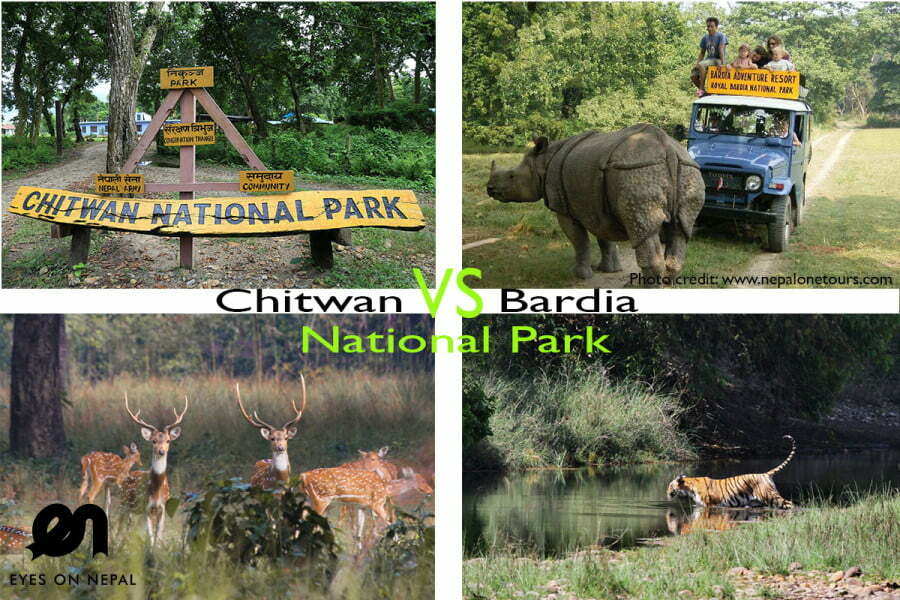 Chitwan National Park vs. Bardia National Park