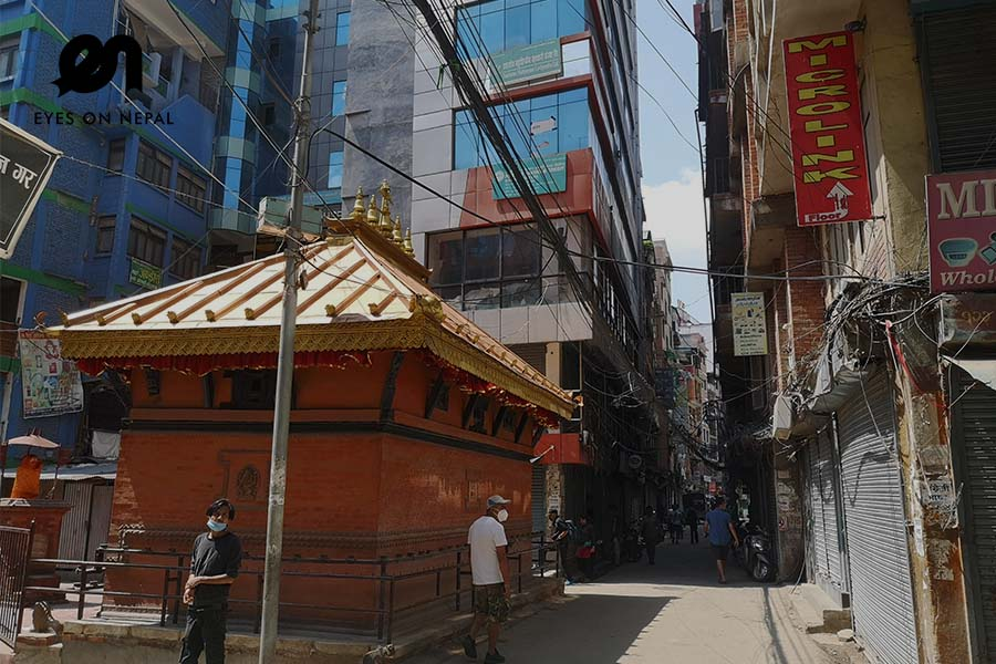 Chinese wholesale market in Kathmandu during lockdown 2020
