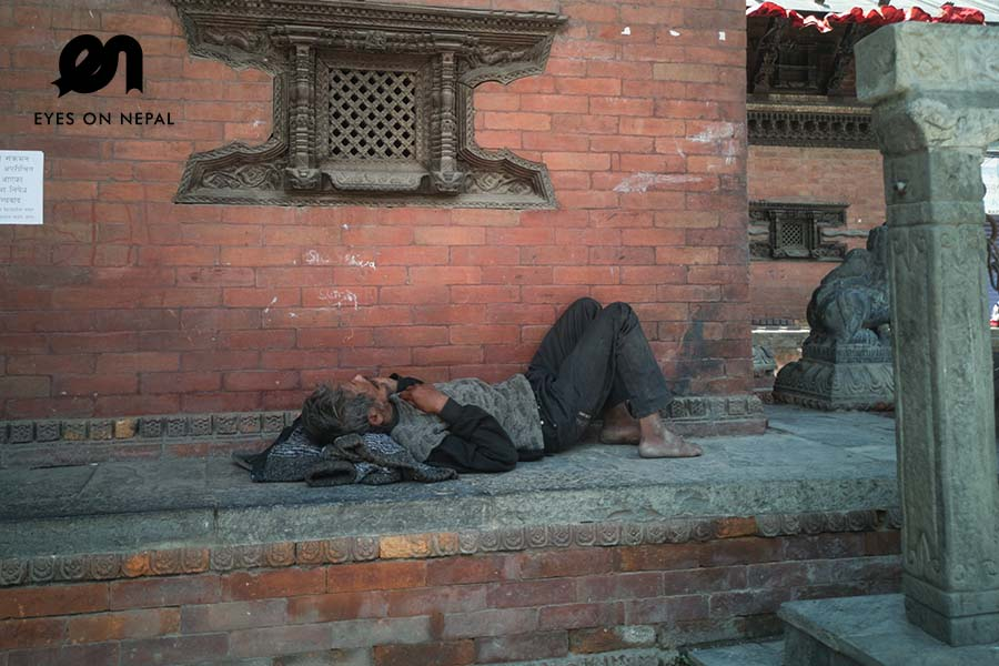 Jobless people in Kathmandu during lockdown 2020