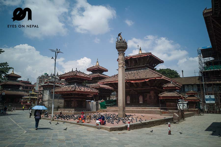 Kathmandu durbar square during lockdown 2020