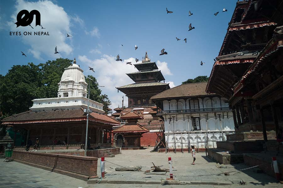 World heritage sites in Kathmandu during lockdown 2020